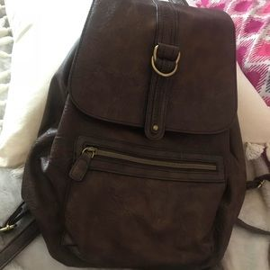 Little brown backpack